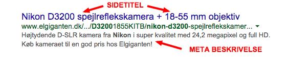 Google søgeresultat
