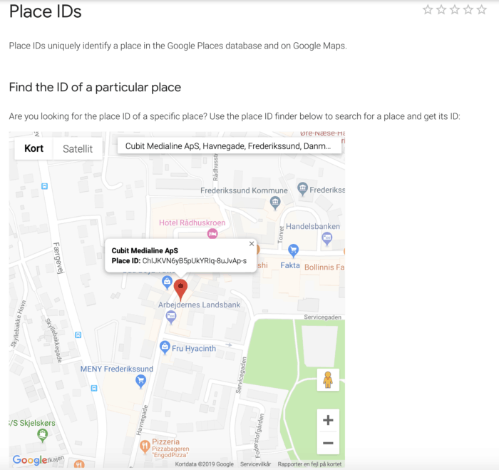 Google Place ID side